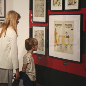 Mother and Child in Exhibition